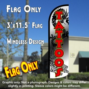 custom tattoo feather banner flag
