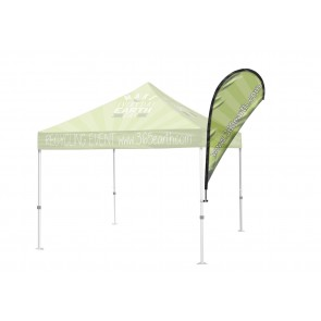 Tent Teardrop Feather Flag Small  FREE GROUND SHIPPING Next Day Print