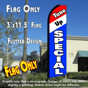 TUNE UP SPECIAL (Tri-color) Flutter Feather Banner Flag (11.5 x 3 Feet)
