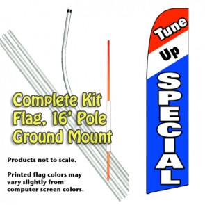 Tune Up Special  Feather Banner Flag Kit (Flag, Pole, & Ground Mt)