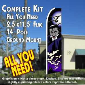 VAMPIRE (Halloween) Flutter Feather Banner Flag Kit (Flag, Pole, & Ground Mt)