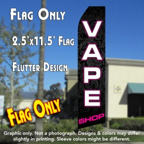 vape shop feather banner flags