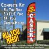 100% Comida Casera Windless Feather Banner Flag Kit (Flag, Pole, & Ground Mt)