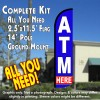 ATM HERE Windless Feather Banner Flag Kit (Flag, Pole, & Ground Mt)