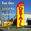 AUTO DETAIL (Red/Yellow) Flutter Feather Banner Flag (11.5 x 3 Feet)