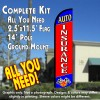 AUTO INSURANCE (Blue/Red)  Windless Feather Banner Flag Kit (Flag, Pole, & Ground Mt)