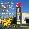 AUTO TINTING (Red/Blue) Flutter Feather Banner Flag Kit (Flag, Pole, & Ground Mt)