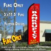 BANKRUPTCY LAW OFFICE (Red) Flutter Feather Banner Flag (11.5 x 3 Feet)
