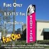 BEAUTY SALON (Pink) Flutter Feather Banner Flag (11.5 x 2.5 Feet)