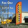 CAMBIO DE ACEITE (Orange) Flutter Feather Banner Flag (11.5 x 3 Feet)