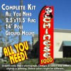 CHINESE FOOD (Red/White) Flutter Feather Banner Flag Kit (Flag, Pole, & Ground Mt)