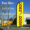 CORN DOGS Flutter Feather Banner Flag (11.5 x 3 Feet)