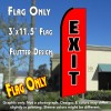 EXIT (Red) Flutter Feather Banner Flag (11.5 x 3 Feet)