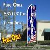 FIREWORKS (Sparklers) Flutter Feather Banner Flag (11.5 x 2.5 Feet)