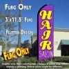 HAIR SALON (Purple) Flutter Feather Banner Flag (11.5 x 3 Feet)