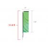 Custom Rectangle Feather Flag (Medium) 11.8 ft tall