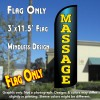 Massage Windless Polyknit Feather Flag (3 x 11.5 feet)