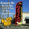 Mexican Restaurant (Black/Red) Windless Feather Banner Flag Kit (Flag, Pole, & Ground Mt)