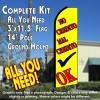 NO CREDITO MAL CREDITO OK (Yellow) Flutter Feather Banner Flag Kit (Flag, Pole, & Ground Mt)
