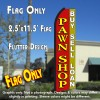 PAWN SHOP (Yellow/Red) Flutter Feather Banner Flag (11.5 x 3 Feet)