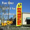 PERFORMANCE (Yellow) Flutter Feather Banner Flag (11.5 x 2.5 Feet)