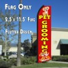 PET GROOMING (Red/Yellow) Flag