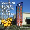 Season's Greetings Windless Feather Banner Flag Kit (Flag, Pole, & Ground Mt)