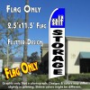 SELF STORAGE (Blue/White) Flutter Feather Banner Flag (11.5 x 2.5 Feet)