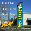 SHAVED ICE Windless Polyknit Feather banner  Flag (11 x 2.5 feet)