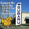 Subaru Flutter Feather Banner Flag Kit (Flag, Pole, & Ground Mt)
