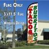 Tacos & Burritos (Green)  Feather Banner Flag