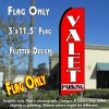 VALET PARKING (Red) Flutter Feather Banner Flag (11.5 x 3 Feet)