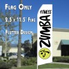 ZUMBA FITNESS Feather Banner Flag White and Black