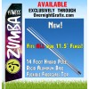 ZUMBA FITNESS BLUE, BLACK AND PURPLE ADVERTISING FLAG  Feather Banner Flag Kit