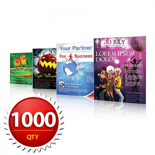 """1000 8.5""""x11"""" Flyers on 100LB Gloss Book with AQ"""