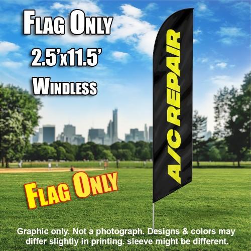 AC REPAIR black yellow windless flag