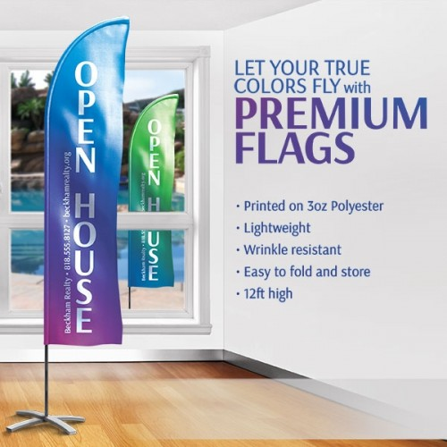 "12ft Jumbo (36"" x 123"") Single Sided Premium Feather Flag"