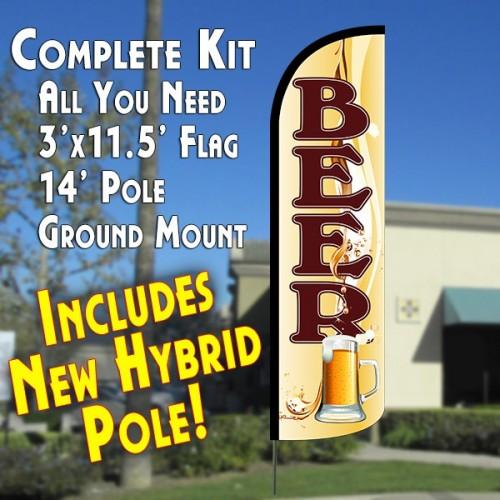 Beer (Mug) Windless Advertising Kit beer flag kit