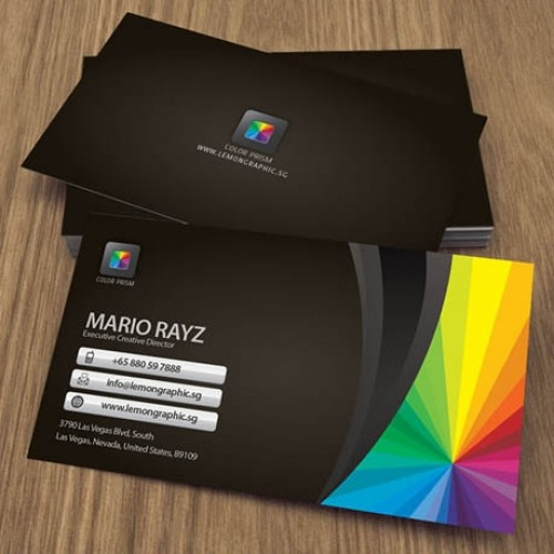 Business cards with full uv on the front only no uv coating on the 2 x 35 16pt business cards with colourmoves