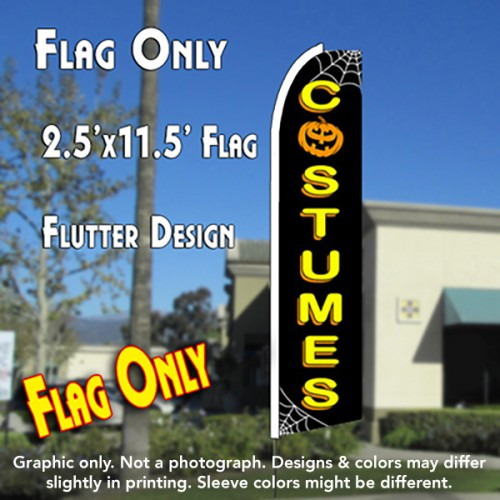 COSTUMES (Halloween) Flutter Feather Banner Flag (11.5 x 2.5 Feet)