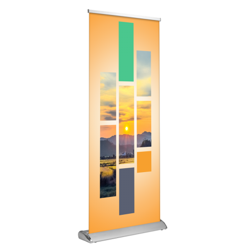 "Deluxe Retractable Banner Stand 33""x81"""