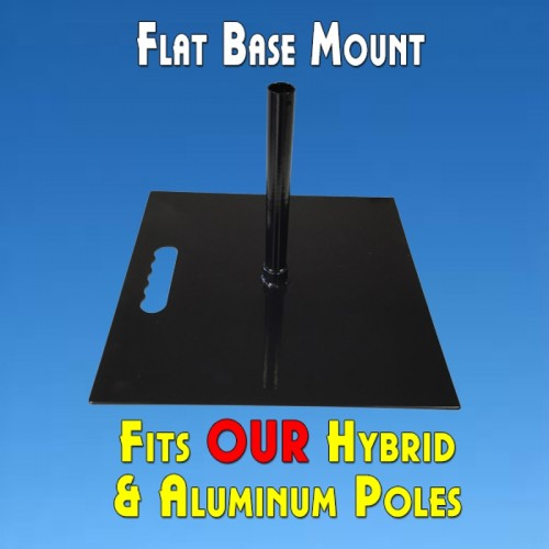 Feather Banner Flat Base Mount (Flutter and Windless Poles)
