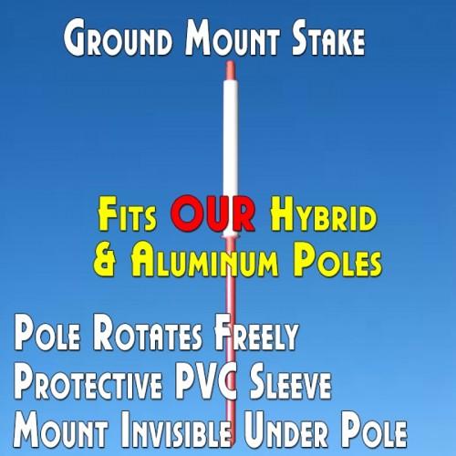 Ground Mount Stake (Hybrid/Aluminum Poles)