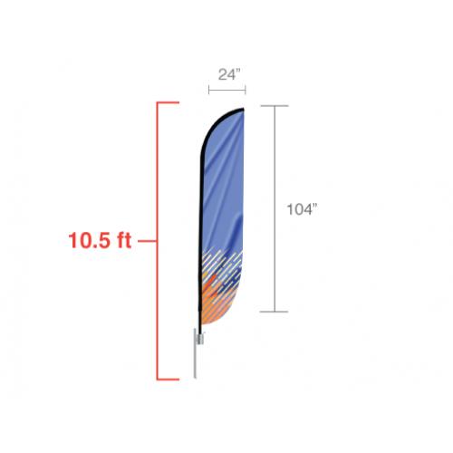 Custom Feather Convex Flag (Medium) 10 5ft tall