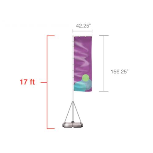 Custom Giant Feather Flag (Large) 17ft tall