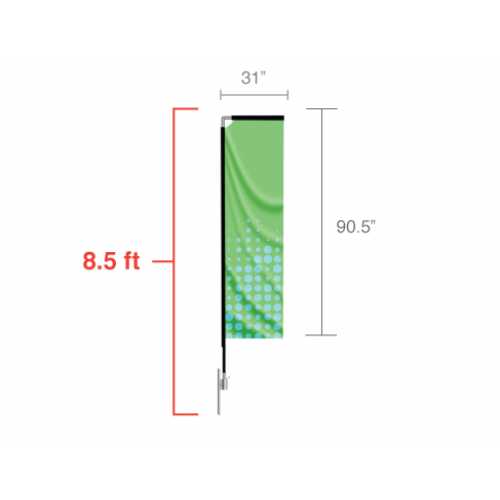 Custom Rectangle Feather Flag (Small) 8.5 ft tall