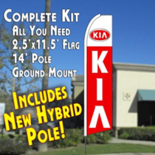 KIA  (11.5 x 2.5) Feather Banner Flag Kit (Flag, Pole, & Ground Mt)