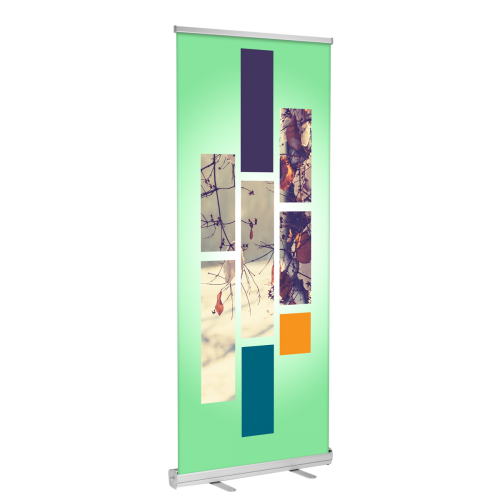 "Standard Retractable Banner Stand 23""x66""  (Stand + Insert)"