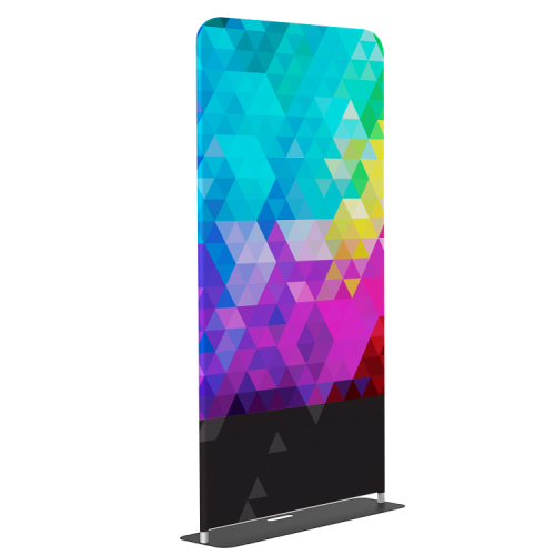"""Banner Stand Tension Fabric Stand 48""""x90""""  Tool-free installation  EZ setup tube hardware  Great POP display"""