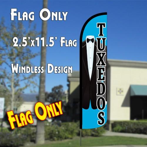 TUXEDOS Windless Polyknit Feather Flag (2.5 x 11.5 feet)